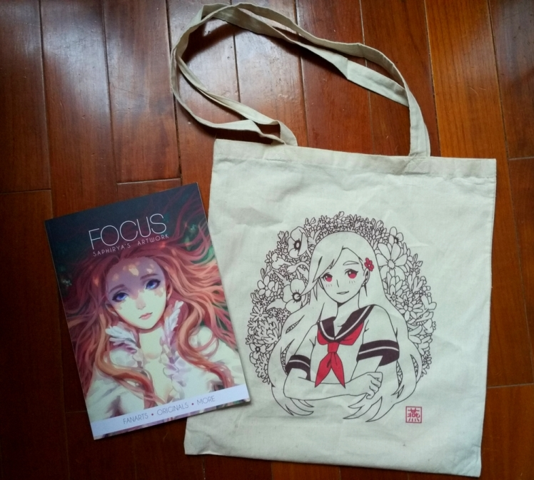 artbook focus and cotton bag